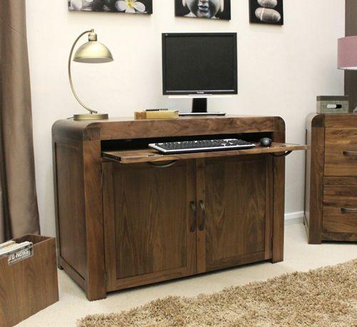Shiro Walnut Hidden Home Office #wood #furniture #livingroom #lounge #bedroom #office #study #hallway #modern #contemporary #minimalist #desk #computer #laptop #interior #decor #home #interiorinspiration