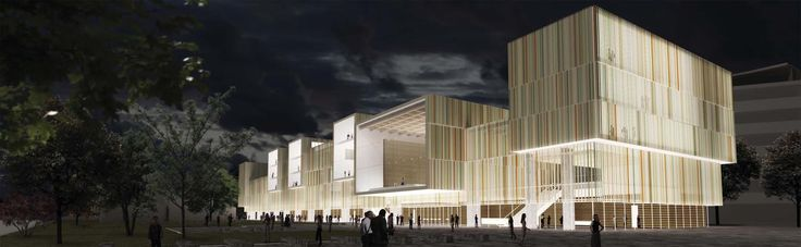 OPERASTUDIO - Competition - Helsinki public library - #render #bynight