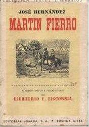 Wikipedia article about Martin Fierro