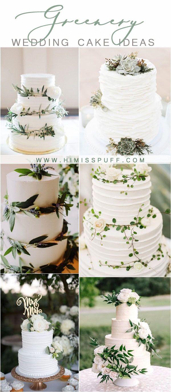 grüne hochzeitsfarben ideen – grüne buttercreme hochzeitstorten   – Greenery Wedding