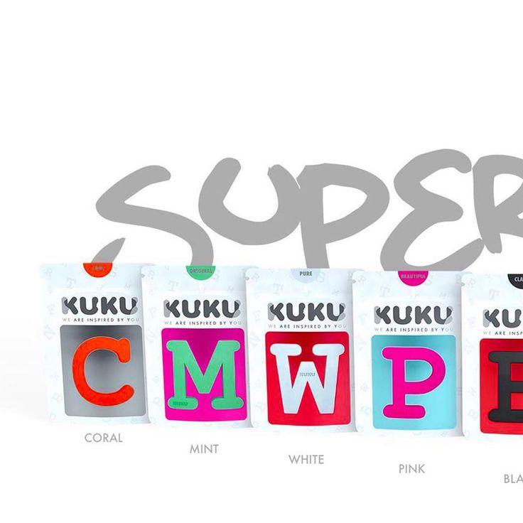SUPER 9 žiarivých farieb➡️ #ilovekuku #kukusupercolor #packagingdesign www.ilovekuku.com