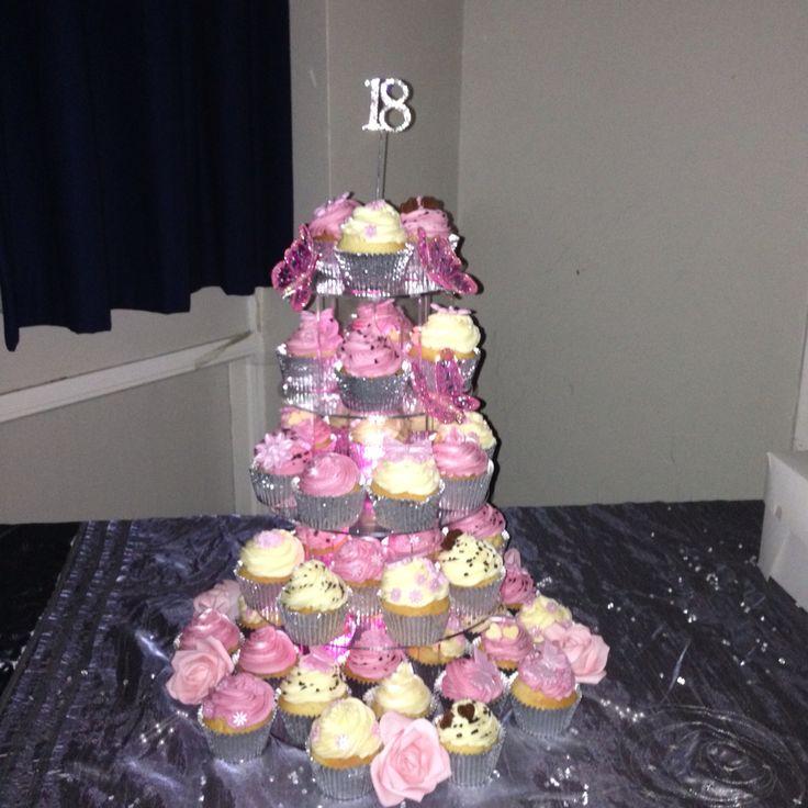 My cupcake tower