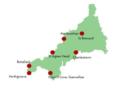 'POLDARK' (2015) FILM LOCATIONS: a map of the filming locations used in 'Poldark' (2015). From cornwalltoday.co.uk     ✫ღ⊰n