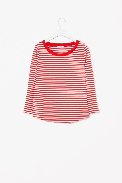Cos red stripe top