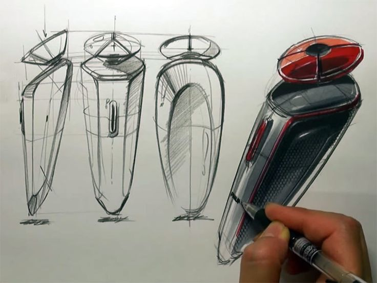 Sangwon Seok sketches an electric razor   more tutorials: http://www.carbodydesign.com/tutorials/2d/industrial-design-sketching-tutorials/