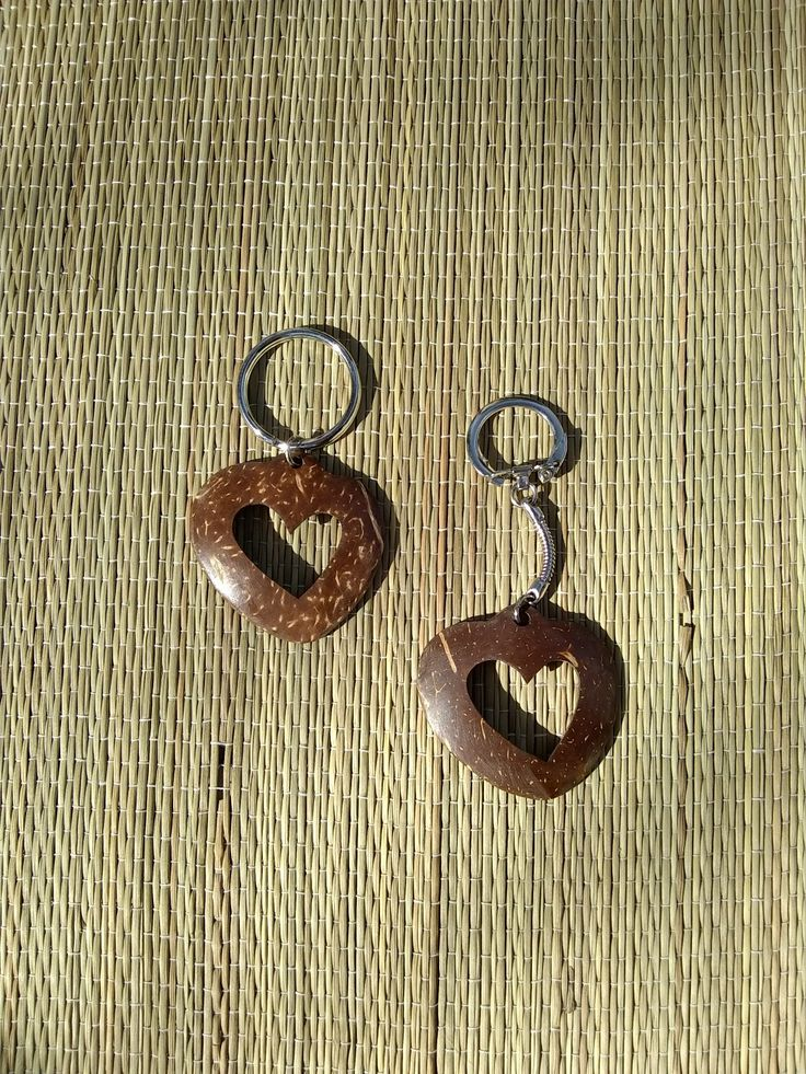 Fair-trade Coconut Shell Key Chains. Polished smooth - delicious to handle.