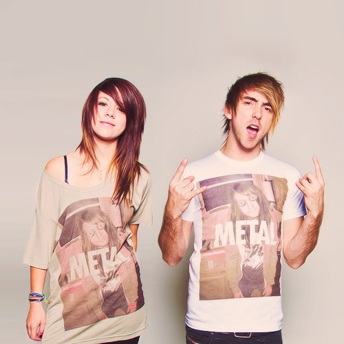 Tay Jardine (We Are The In Crowd) and Alex Gaskarth (All Time Low)