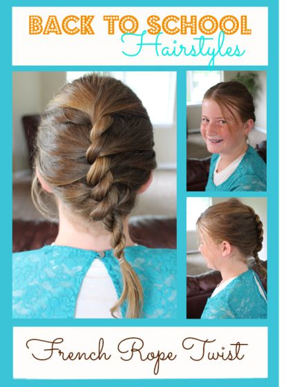 back to school hairstyles french rope twist