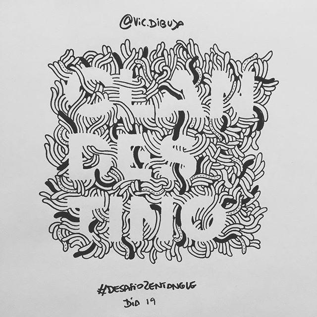 Soy una raya en el mar, fantasma en la ciudad 👻#manuchao  #desafiozentangle Día 19 #tardeperoseguro #zentanglechallenge  #words #palabra #clandestino #diseño #graphicdesign #type #typegang #typespire #tipografia #lettering #letters