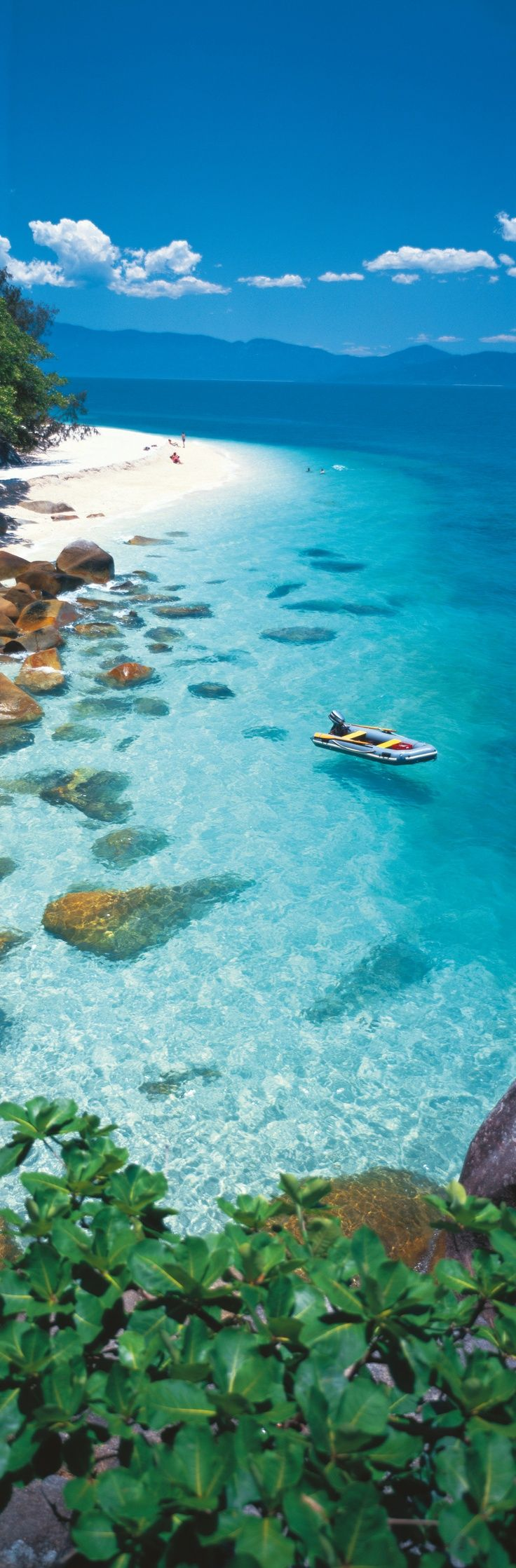 Clear waters surrounding Fitzroy Island in Tropical North Queensland