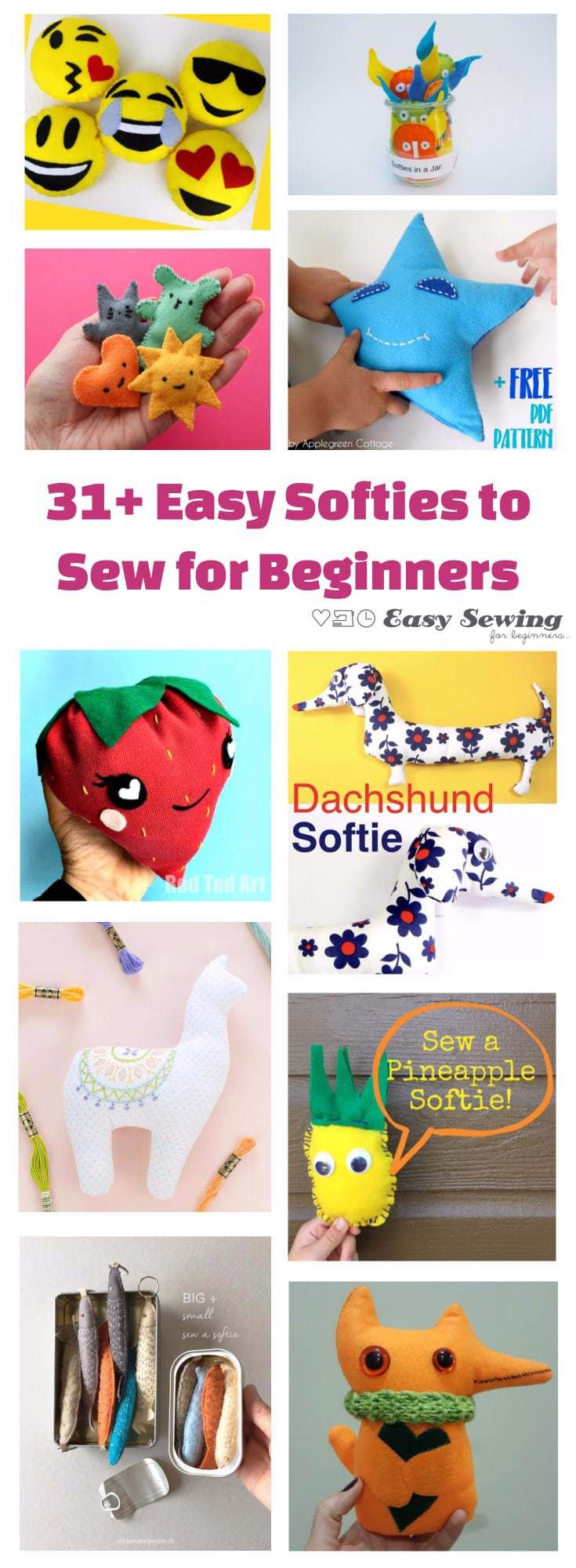 31+ Easy Softies to Sew for Beginners
