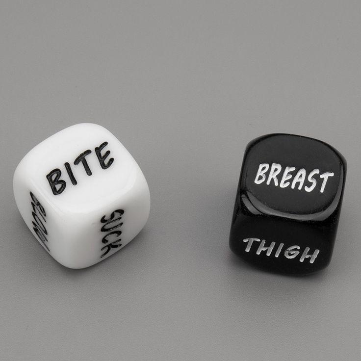 1 Пара Черный Белый Секс Dice Прелюдия Для Взрослых Игры Английский слова Эротические Кости Партии Смешные Секс Подарки Секс-Игрушки для пары