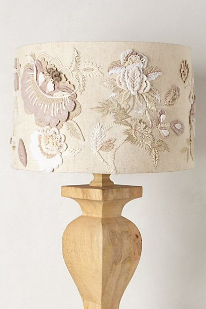 Felted Floral Lampshade #anthropologie