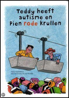bol.com | Teddy heeft autisme en Pien rode krullen, Ingrid Mous. Eindelijk een boek dat aan alle leeftijden, op een positieve en inzichtelijke manier, uitlegt wat autisme nu écht is. Waarbij moeilijke onderwerpen, zoals de werking van de hersenen, sensorische integratie, verschillen tussen jongens en meisjes, sociale situaties en communicatie, niet uit de weg worden gegaan.  Met duidelijke illustraties die de uitleg extra ondersteunen.