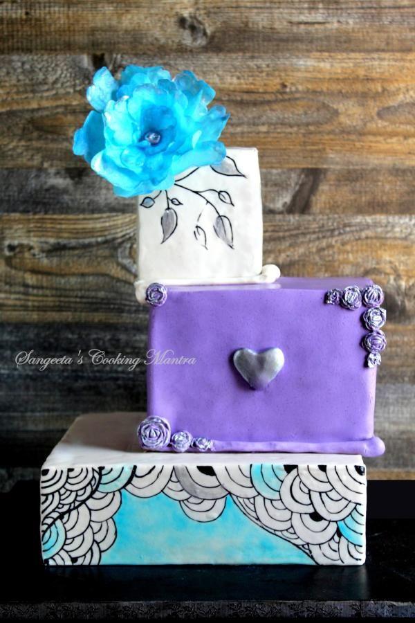Engagement cake – Fancy Fantasy – cake by Sangeeta Roy Ghosh – Wedding Cakes