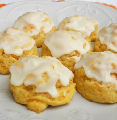 Orange Carrot Cookies.  Soft Carrot Cookies with Orange Icing.