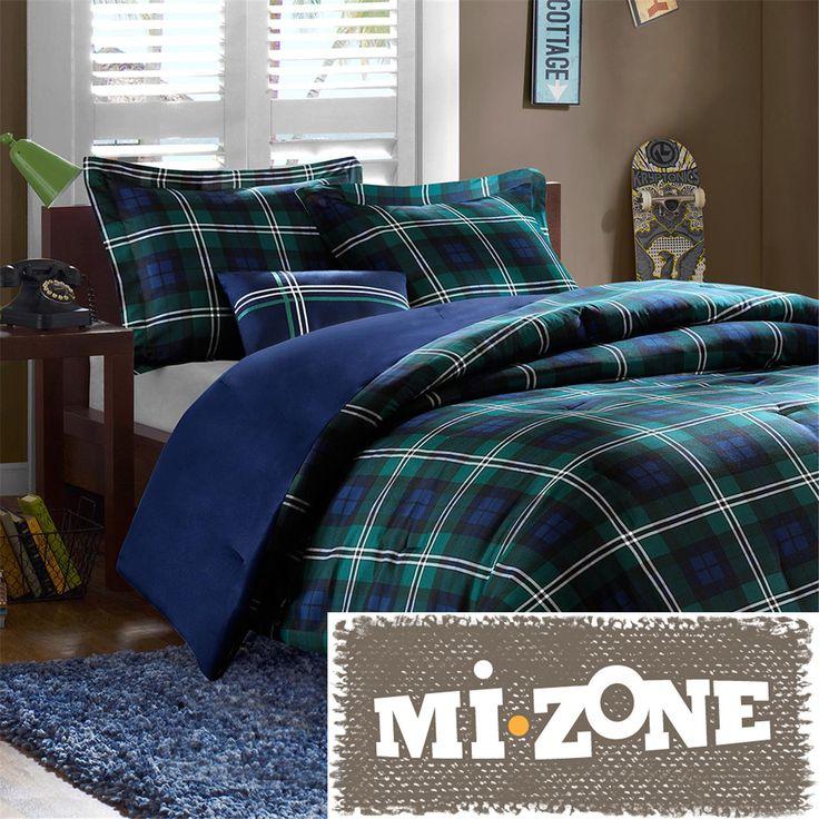 Mi Zone Cameron Blue Comforter Set Comforter sets, Plaid