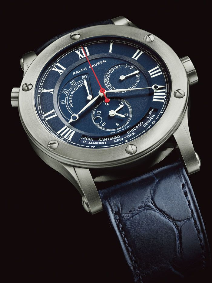 """17 best images about watches jewelry ceramics """" ralph lauren watches """" the 45 mm chronograph world time model in stainless steel a nautical twist on the sporting classic"""