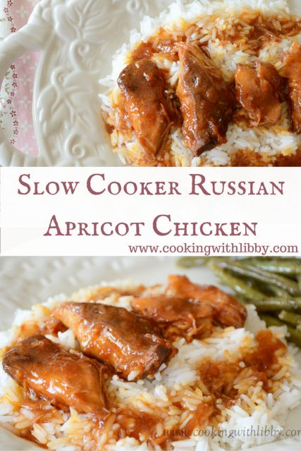 Russian Apricot Chicken {Slow Cooker Monday} | Cooking With Libby