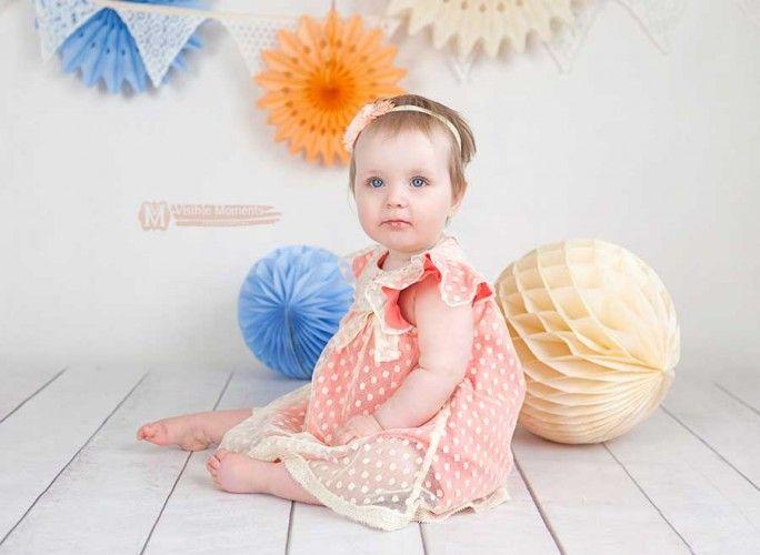 Baby girl birthday photos ideas