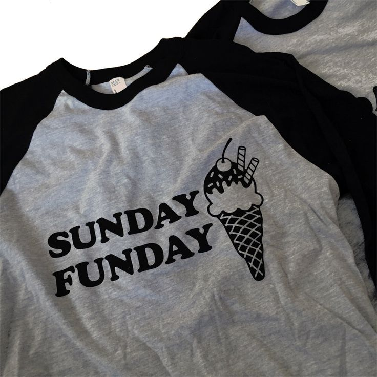 Sunday Funday Ice Cream T-Shirt Raglan - Sizes S - XL by emandsprout on Etsy https://www.etsy.com/listing/254596275/sunday-funday-ice-cream-t-shirt-raglan