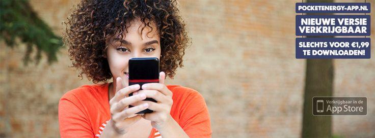 De eerste update van de Pocket Energy app staat inmiddels klaar in de App Store. Hierdoor kan de app ook worden gebruikt op de Iphone 6+ en kunnen Ipad en Iphone 4 gebruikers activiteiten aanpassen en verwijderen. Tevens zijn de problemen rondom de stopwatch verholpen. De gloednieuwe versie van de Pocket Energy app is voor €1,99 te downloaden in Apple's App Store (http://appstore.com/pocketenergy). Tenzij je de app al gedownload had natuurlijk, dan zijn alle updates gratis.