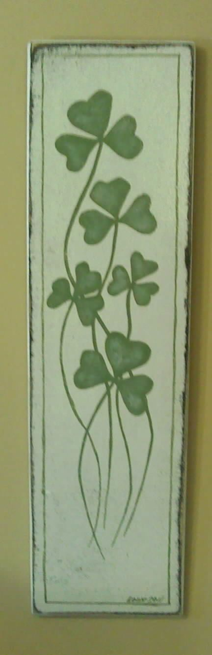 Vintage Styled Shamrock Painting On Wood by MadmorCreations