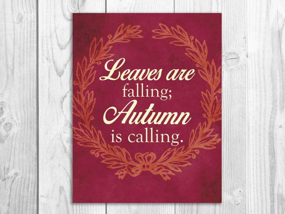 Leaves are falling quotes decor red art autumn leaves fall wreath