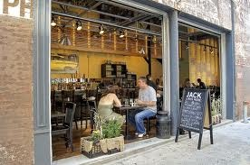 Sidewalk seating with roll up doors: Building Ideas, Sidewalk Seating, Photo Sharing, Sidewalks, Restaurant Ideas, Restaurant, Business Ideas