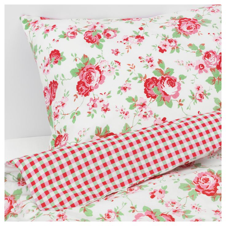ROSALI Quilt cover and 2 pillowcases - 150x200/50x80 cm - IKEA