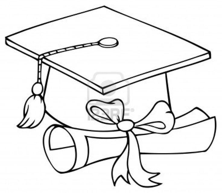graduation cap coloring page  Graduation cap coloring page