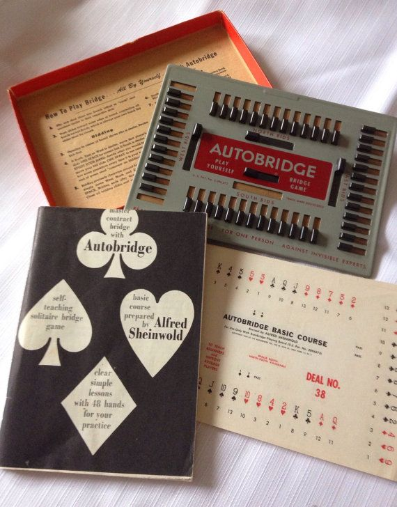 Auto Bridge game Play Yourself Bridge game vintage by Quilrdil