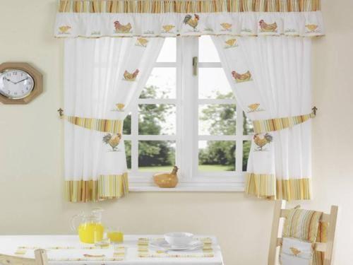 9 best Kitchen Curtain Designs images on Pinterest | Kitchen curtain ...