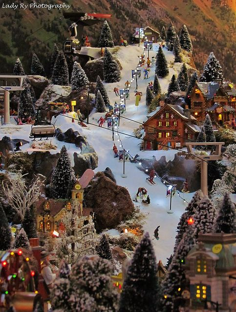 I love Christmas villages!