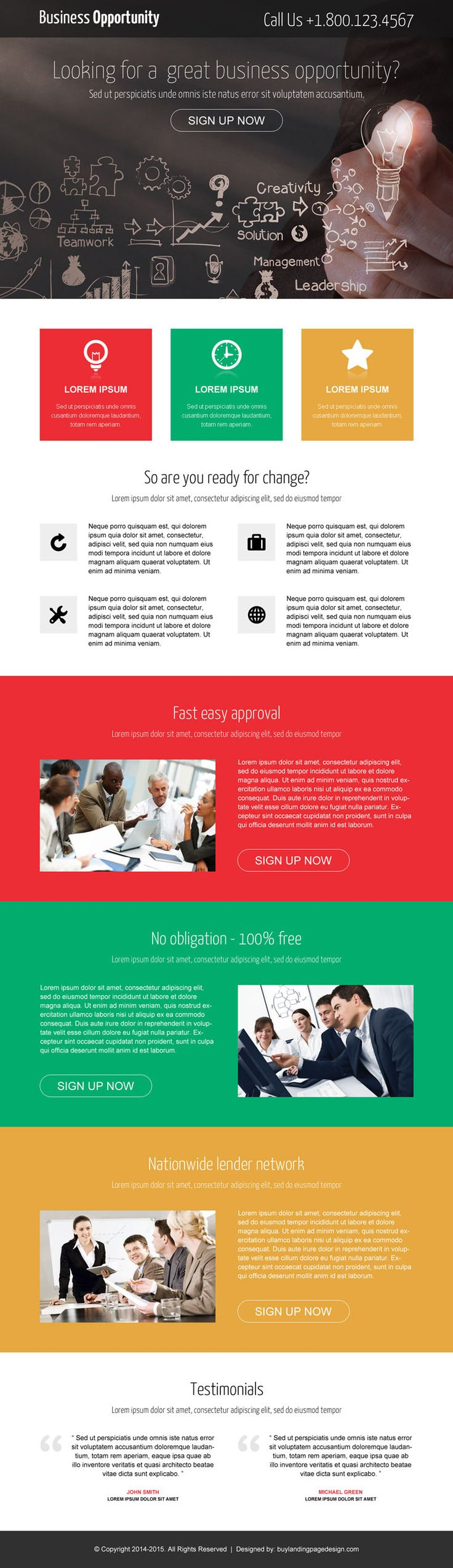 15 best mobile responsive landing page design for top online marketers | Landing Page Design Template for Sale