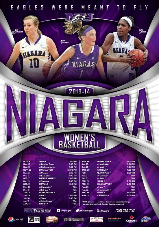 20132014 Niagara Women's Basketball poster featuring 1