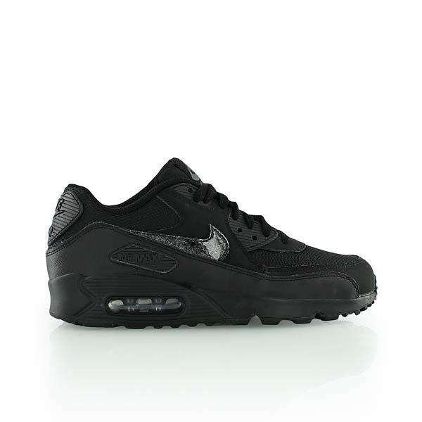 nike KIDS AIR MAX 90 MESH (GS) noir/noir/gris