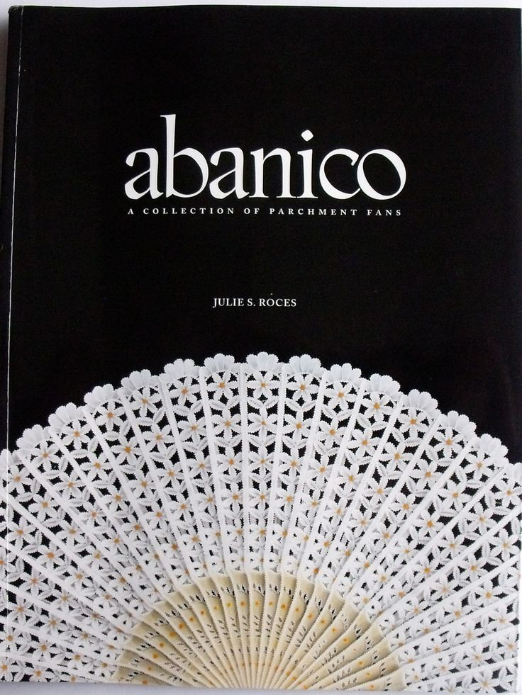 ABANICO BY JULIE ROCES    In this book Abanico, Julie Roces has 27 completely new fan designs she has created and worked on. Each finished fan is shown in colour with smaller pictures showing the fine details and whitework. All patterns are printed in full size. 89 Pages.