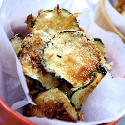 Oven Baked Zucchini Chips - the most delicious and healthy chips around and incredibly easy to make!