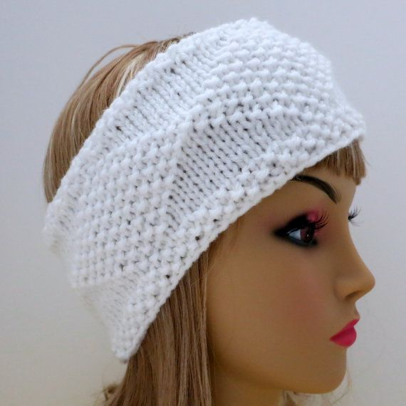 Headband Ear Warmer Knitting Pattern : Pattern Headband Knit Diamonds Knitting Pattern PDF Headband Ear Warm?