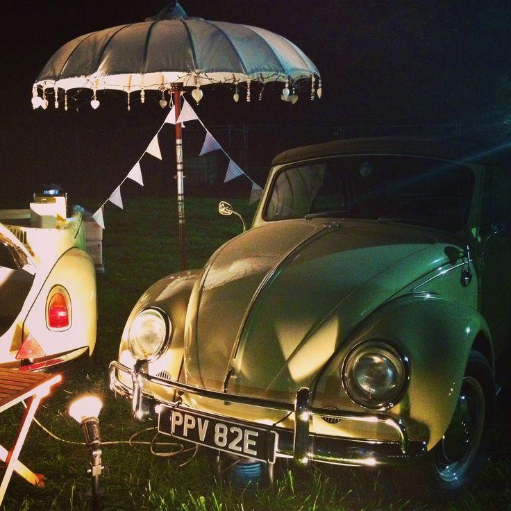 #VW #Beetle #icecream stand at #Pilton Party #Glastonbury