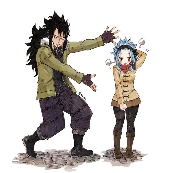 When your girl is just too fab that you just can't help but to show her off. Take a pose Levy. ~Fairy Tail #GaLe
