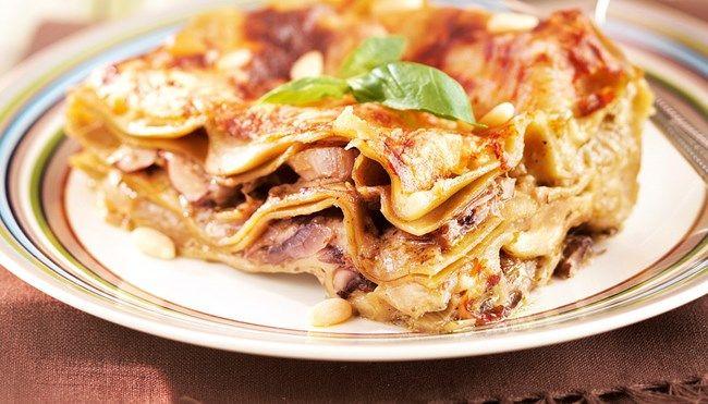 Sieni-pestolasagne - K-ruoka