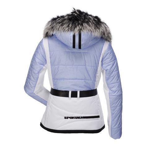 Sportalm Kitzbühel, Skip Beat ski-jas met bontkraag, dames, Lichtblauw (Ski kleding dames)