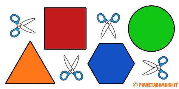 Figure geometriche piane da stampare e ritagliare per for Altalena con scivolo per bambini