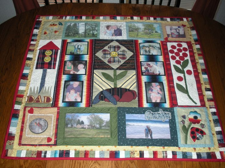 21 Best Quilts Photo Memory Images On Pinterest Memory