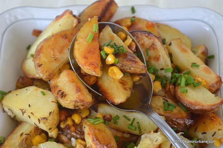 Cartofi la cuptor cu porumb wedges Savori Urbane (1)