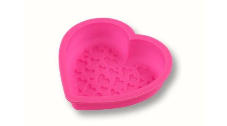 Kis méretű szilikon szív sütőforma - Süss Velem.com