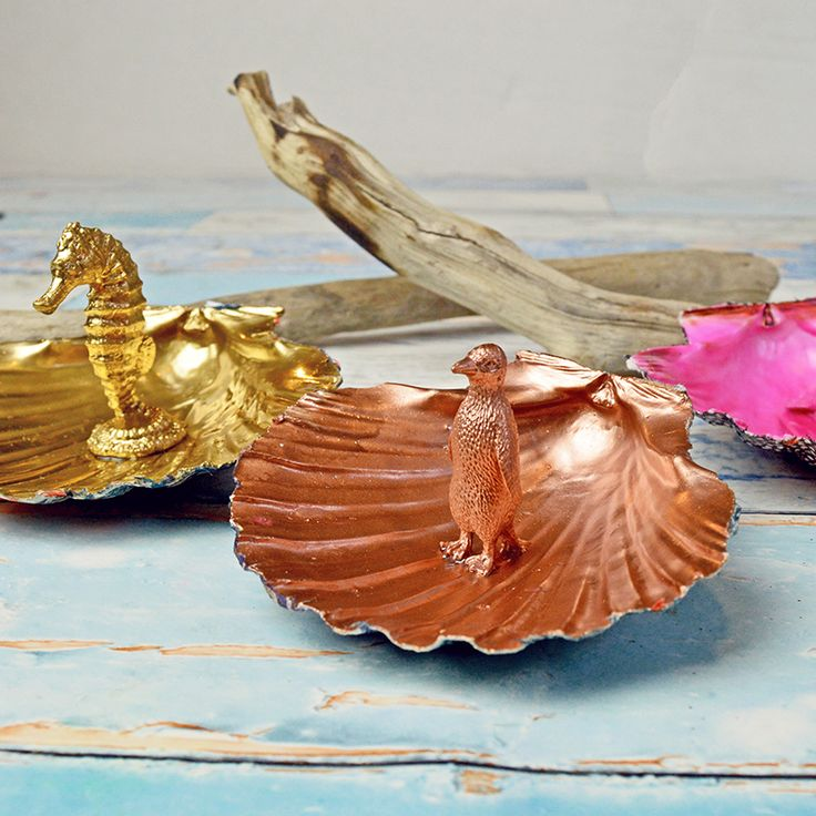 Scallop Shell Trinket dishes - Pillarboxblue.com