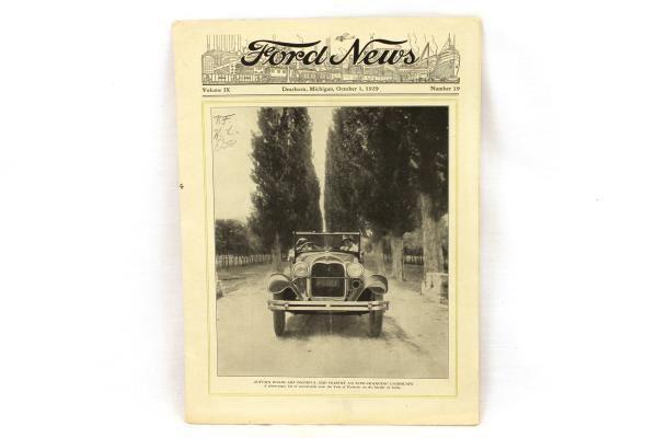 Vintage Original Issue Ford News Vol IX Number 19 October 1, 1929 Dearborn, MI #Fordnews